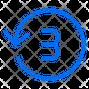 Timer Countdown Three Icon