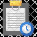 Timer Clock Document Icon