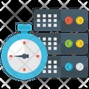 Database Timer Database Big Data Icon