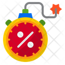 Clock Shopping Bomb Icon