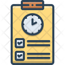 Timesheet Countdown Overtime Icon