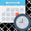 Calendar Timetable Clock Icon