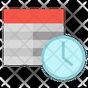 Timetable Airplane Clock Icon