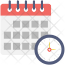 Timetable Clock Schedule Icon
