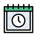 Timetable Clock Date Icon