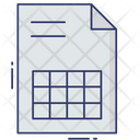 Timetable Schedule Plan Icon