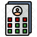 Timetable Schedule Blood Donor Card Icon