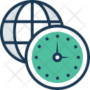Timezone Time Management Icon