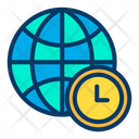 World Timezone Global Time Zone Globe Time Icon
