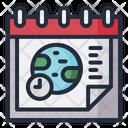 Timezone Date Schedule Icon