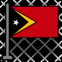 Timor Leste Country Flag Flag Icon