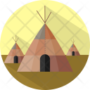 Tipi Building Traditional Icon