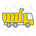 Tipper Truck Construction Industry Dump Vehicle Transportation Icon