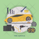 Tire Service Mechanic Icon