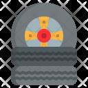 Tire Repairing Garage Icon