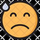 Tired Emoji Expression Icon