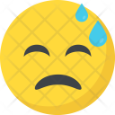 Tired Exhausted Emoji Icon