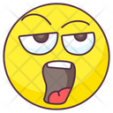 Tired Emoji Exhausted Expression Emotag Icon