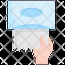 Hand Tissue Paper Icon