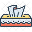 Tissue Wet Wipes Mesh Icon