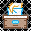 Napkins Box Hand Icon