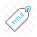 Title Tag Label Title Icon