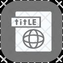 Title Web Optimization Icon