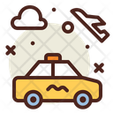 To Plane Airport Taxi Icon