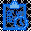 Clipboard Checklist Clock Icon