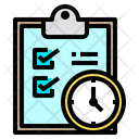 Clipboard Checklist Clock Icon