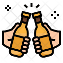 Beers Bottle Toast Icon