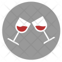 Toast Red Wine Icon