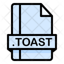 Toast File File Extension Icon