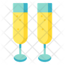 Toast Champagne Glass Icon