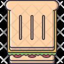 Toast Bread Sandwich Icon