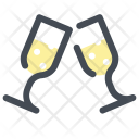 Holidays Glasses Champagne Icon