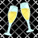 Toast Two Glasses Icon
