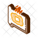 Toast Melting Butter Icon