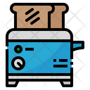 Toaster Cooking Food Icon