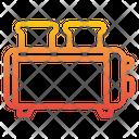 Toaster Breakfast Bakery Icon