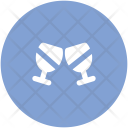 Toasting Glasses Party Icon