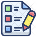 Todo List Checklist Memo Pad Icon