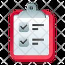Task List Todo List Worksheet Icon