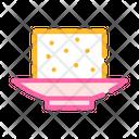 Tofu Cheese Color Icon