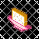 Tofu Cheese Isometric Icon