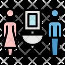 Toilet Man Woman Icon