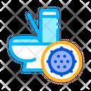 Bacteria Germ Toilet Icon