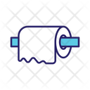 Toilet Paper Tissue Paper Use And Throw Paper Icon