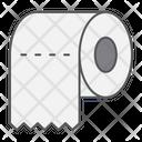 Toilet Paper Hygiene Icon