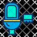 Toilet & Paper Icon